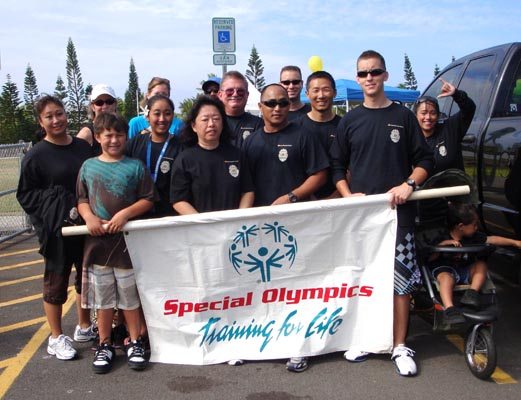 West Hawaii participants of the 2009 Troy Barboza Torch Run