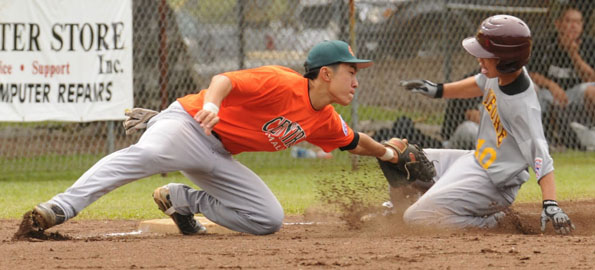 State Senior Little League Tournament game between Central Maui and Kaneohe. Maui won 4-3.