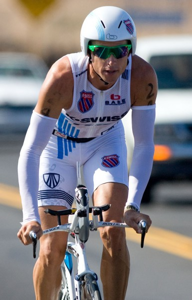 Chris Lieto on the bike course of the Ford Ironman Triathlon World Championship. Photography by Baron Sekiya Hawaii 24/7