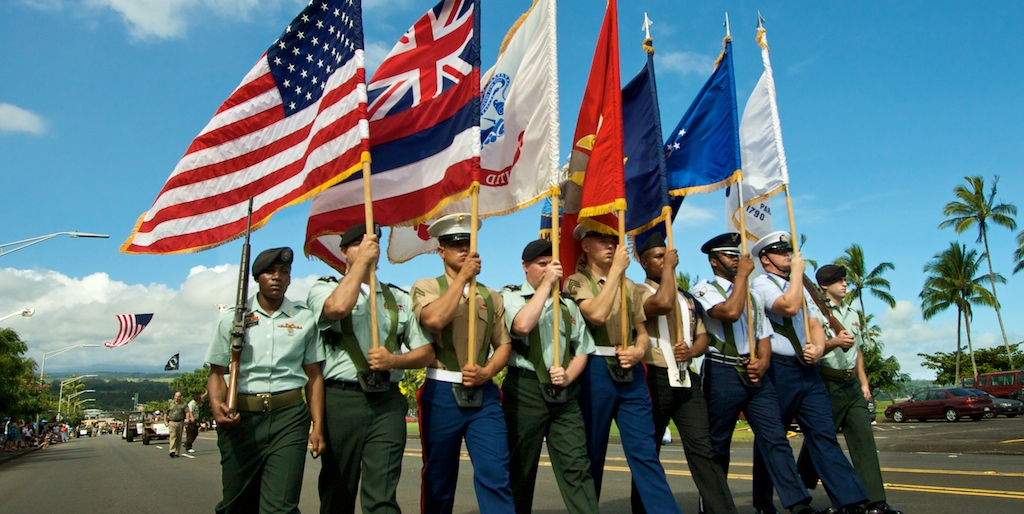 Honoring men and women who have served in the military at the Veteran's Day parade in Hilo Saturday (Nov 7).