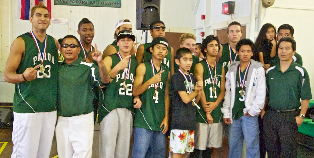 Music, dancing and a multimedia presentation let the crowd relive the victory of the Pahoa Daggers winning the state's Division II boys basketball crown Wednesday (March 10) in the school gym.