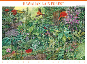 Hawaii rainforest featured on stamp