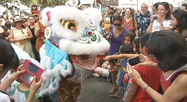 The Ninth Annual Hilo Chinese New Year Festival was celebrated Saturday (Feb 12) in downtown Hilo as the community welcomed the Year of the Rabbit.