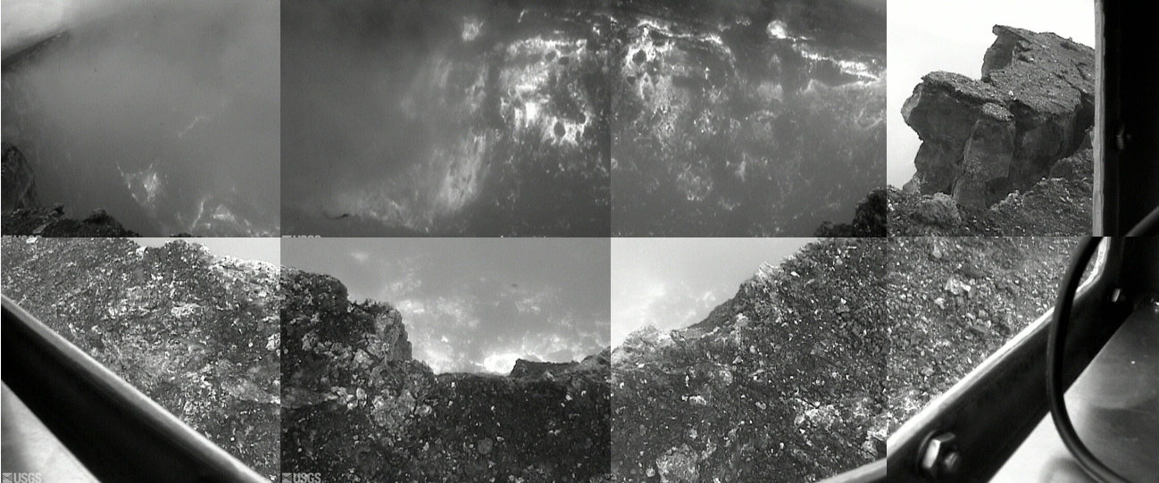 The floor of Pu'u O'o crater appears to have collapsed from the live webcam on the crater rim.