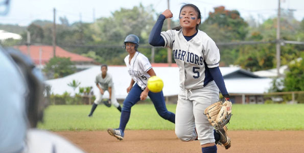 The Waiakea Warriors defeated the visiting Kamehameha-Hawaii Warriors 11-3.