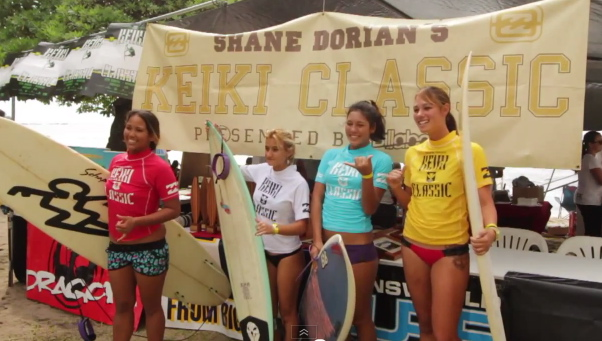 Shane Dorian's annual Keiki Surf Contest at Banyan's Surf Spot in Kona.