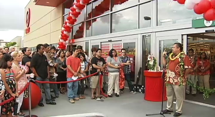 Shoppers flocked to the new Hilo Target store for its opening on Tuesday (July 20).