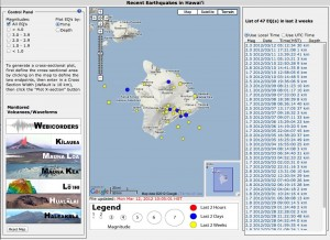 The Volcweb interface offers a wide range of ways to view seismic data from Hawaii.