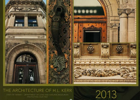 Architecture of H.L. Kerr featured in DLNR 2013 calendar
