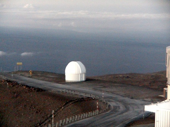 Mauna Kea summit roadway at 6:40 a.m. Saturday (Jan 5). Image courtesy of UH-Hilo.
