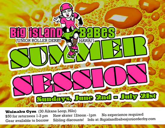 Big Island Babes Junior Roller Derby summer session