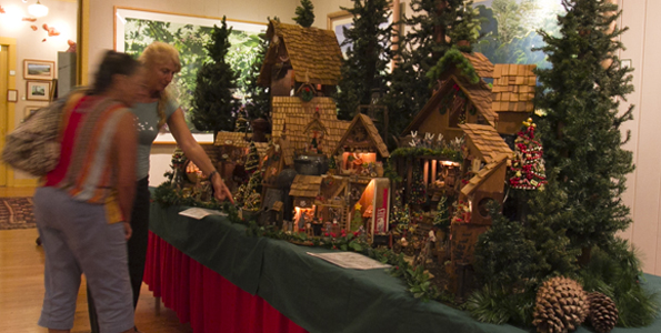 """The Mouse House,"" a miniature Christmas village created by island painter and Kona resident Martha Greenwell, is on display at Hawaii Preparatory Academy's Isaacs Art Center through Jan. 4, 2014. (Photo courtesy of HPA)"
