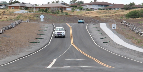 Road extends from the Hooko Street traffic light near Waikoloa School to the Kamakoa Nui subdivision and Kamakoa Nui Park