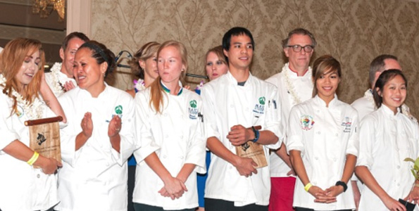 Chefs, chocolatiers and students critiqued on taste, texture, appearance and creativity by a team of celebrity judges during the three-day festival