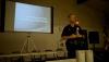 Officer Thomas Shopay III gives an 'active shooter' presentation at Aunty Sally Kaleohano's Luau Hale in Hilo during a police community meeting Monday (June 23). Photography by Baron Sekiya | Hawaii 24/7