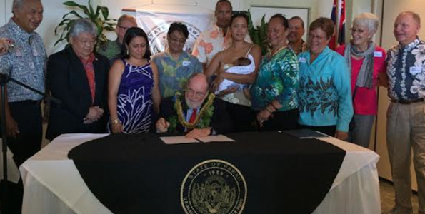 Governor holds historic bill signing ceremony in Hilo