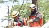Hawaiian Electric workers get suited-up with safety gear before working on electrical lines in Hawaiian Beaches. Photo courtesy of Hawaiian Electric Companies