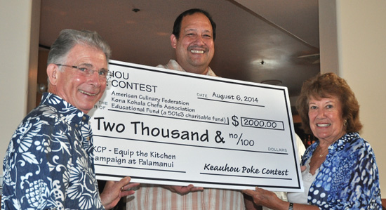 Kamehameha Schools presents check to 'Equip the Kitchen'