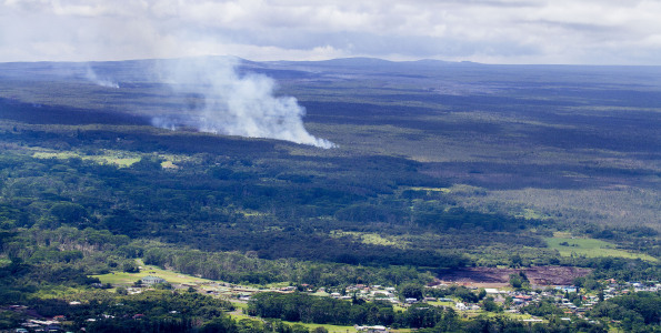 The Kilauea June 27th Lava Flow above the town of Pahoa. Photograph taken Tuesday, September 16, 2014. Air transportation via Paradise Helicopters. Photography by Baron Sekiya | Hawaii 24/7