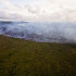 Lava flow sparks brush fire above Apaa Road
