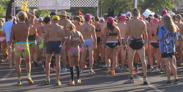 Triathletes, runners come up just short of new world record; plan to try again next year