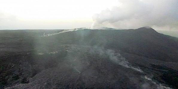 The upslope breakout near Pu'u 'O'o Crater Thursday, February 26, 2015. Photo courtesy of Hawaii County Civil Defense