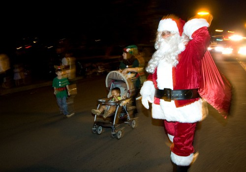 Santa makes a special appearance during the Lehua Jaycees Island Style Christmas parade in Hilo.