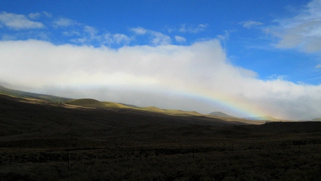 Tuesday afternoon Kohala Mountains rainbow...
