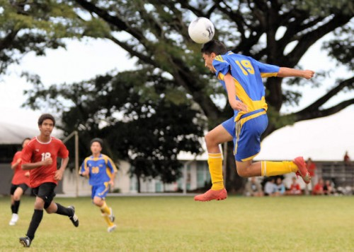 The Hilo Vikings defeated the St. Joseph Cardinals 7-0 in a BIIF socccer match at the St. Joseph campus.