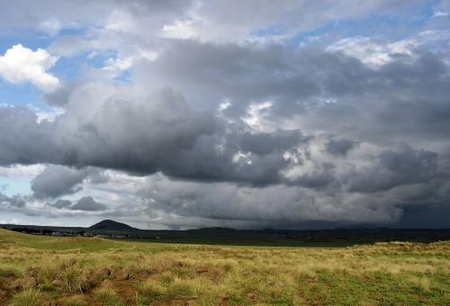 Saddle Road storm clouds.