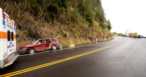 The accident area was spread across both lanes of traffic which closed Highway 19.