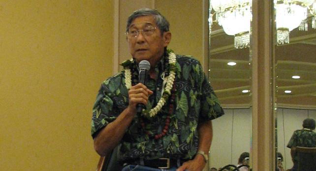 Harry Kim awarded annual Hoomaikai Award by Big Island Visitors Bureau; vows to continue promoting peace, harmony and aloha.