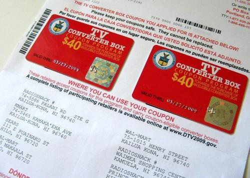 Digital TV coupon. (Photo Illustration by Baron Sekiya/Hawaii247.com)