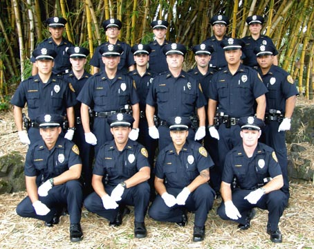Hawaii Police Department recruits going on duty