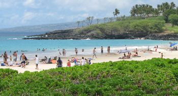 Quince Mento, Hawaii County Civil Defense Director, said the object was planned to be detonated by military personnel today (Feb 18). Hawaii County Civil Defense reported at 11:12 a.m. that Hapuna Beach Park had re-open to the public.
