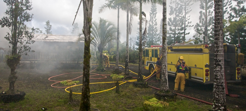 Firefighters responded to a structure fire on Ainaloa Drive near Pikake Drive and Lauhala Drive Wednesday afternoon. The blaze was brought under control and no injuries were reported.