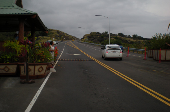 Afternoon drivers will be allowed southbound along the Mamalahoa bypass; extra caution is urged near Kona Scenic Park