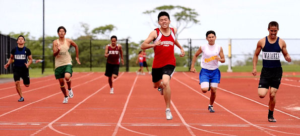 Track and field results from the all-comers meet at Kamehameha Schools Hawaii campus in Keaau