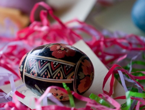 One of the eggs entered in the 'most Easter' category of the egg decorating contest.
