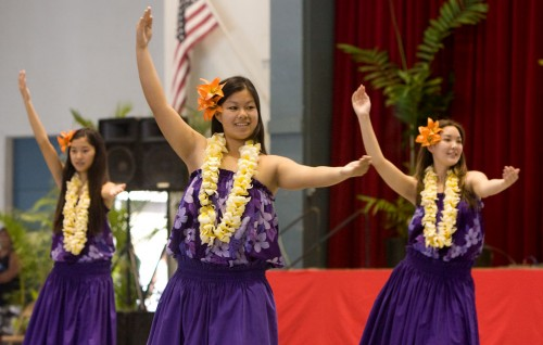 The day long Hoolaulea at the Civic Auditorium featured a number of performers. The Civic will also host a Hawaiian Arts Fair which runs from April 15-18. 8:30 a.m. to 5 p.m. Wed, Thu and Fri and 8:30 a.m. to 4 p.m. on Saturday.