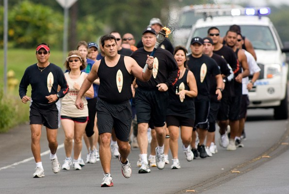 "On Saturday, April 18, the officers and supporters will be in Kea'au for the East Hawai'i Torch Run. Participants will begin at 8:30 a.m. at the Kea'au police station. The ""Flame of Hope"" will be carried to the Kea'au High School track via Kekula Street. Its arrival at the track will signify the start of the Special Olympics track and field games scheduled for that morning."