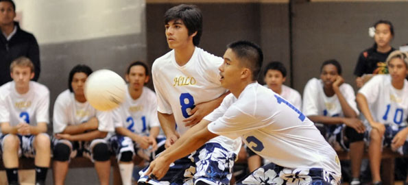 Ke Ana La'ahana brought a lot of heart to the Armory's volleyball court Thursday night against the Hilo Vikings.