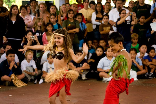 Merahi Tahitian Performance entertained the crowd at Hawaii Community College's Earth Day Fair held on the school's upper campus. The event featured entertainment, educational booths, food, videos and gave away tree seedlings and prizes.