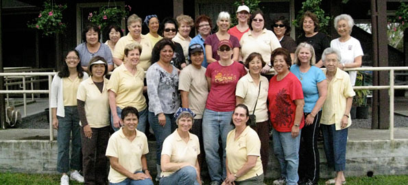 Zonta Club of Hilo members sewed, planted, painted, sorted and cleaned at Hale Ohana, Hilo's domestic abuse shelter, netting the facility a $10,000 grant from the Harry and Jeanette Weinberg Foundation.