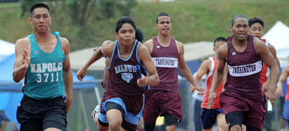 HHSAA track and field images from Keaau High School.