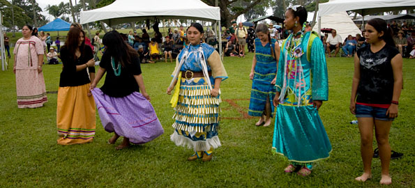 The fourth annual Hilo Inter-Tribal PowWow continues in Hilo
