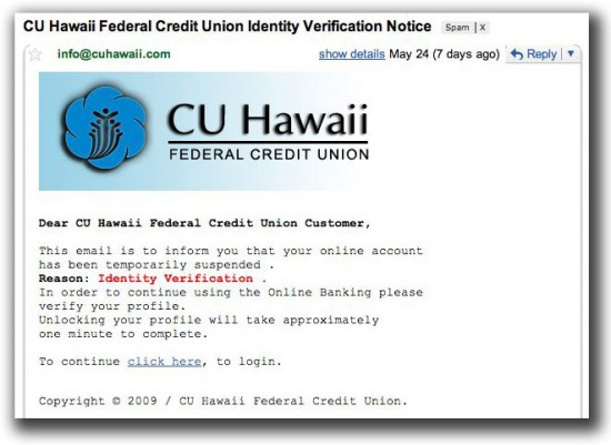 Fake email received by Hawaii247.com
