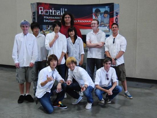Team members, kneeling l to r: Ken Mamizuka, Kazu Kitagawa, and