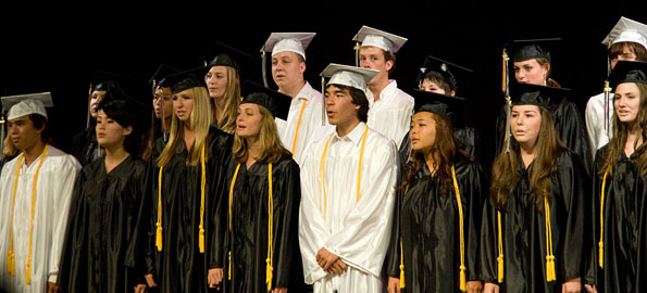 The Parker School class of 2009 commencement exercises at Kahilu Theatre.