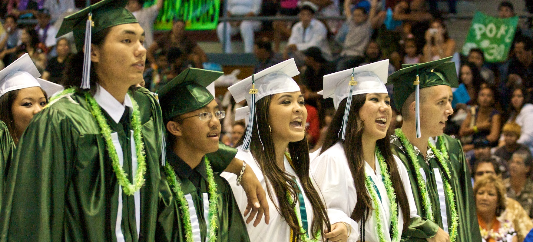 The Pahoa High and Intermediate School 65th Commencement Programs at Afook-Chinen Civic Auditorium Sunday evening.